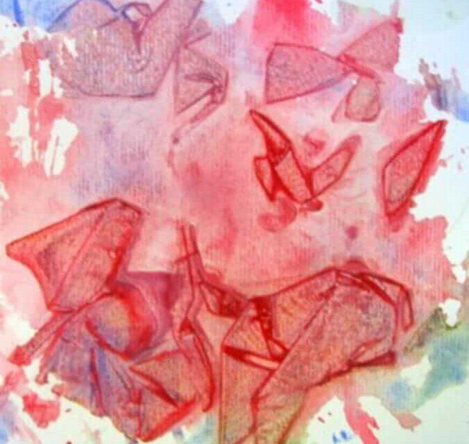 Technique d'enveloppement plastique à l'aquarelle texturée