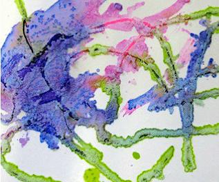 Activité d'aquarelle à l'eau salée pour les enfants