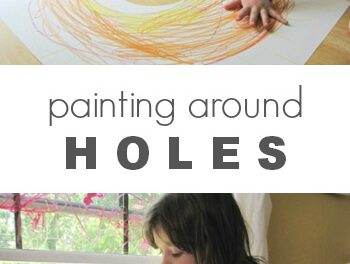 Trou dans l'art du papier pour les enfants