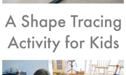 Une activité de traçage de forme pour les enfants