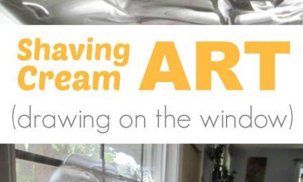 Crème à raser Art :: : Dessiner à la fenêtre