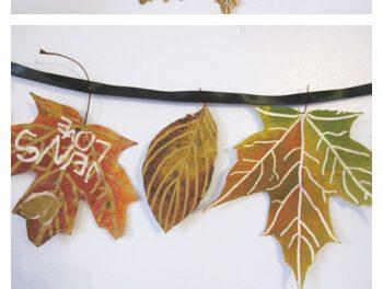 Comment faire une belle guirlande de feuilles d'automne