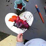 Valentine Art Toddlers – Aquarelle liquide Coeur Valentine Valentine
