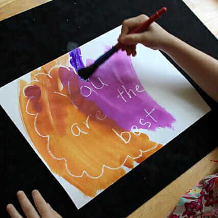 Encre invisible avec réserve de crayon de couleur