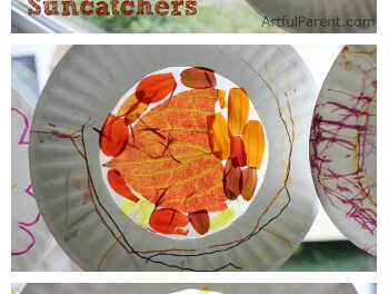 Gobe-mouches d'automne : : Artisanat pour enfants avec des feuilles d'automne