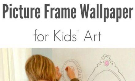 Papier peint DIY Picture Frame Frame pour l'art des enfants