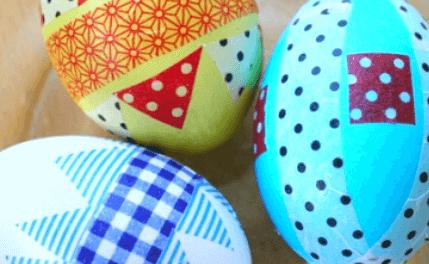 Washi Tape Oeufs de Pâques 6 façons