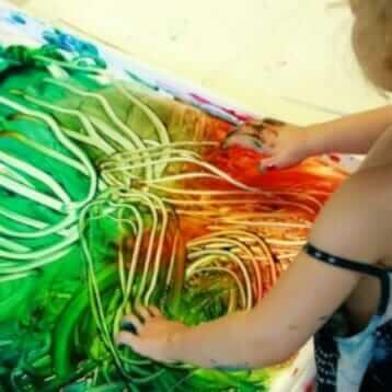 Peinture au doigt amusant avec Sensory Sand Finger Paint