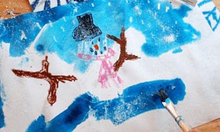 Comment peindre la neige : : Une technique facile pour les enfants