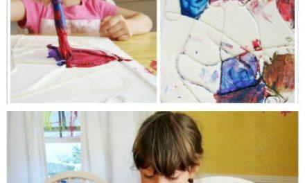 Peintures au fil : : Une activité artistique amusante et tactile pour les enfants