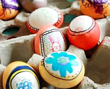 Idées d'oeufs de Pâques pour les enfants – L'oeuf comme une mini toile