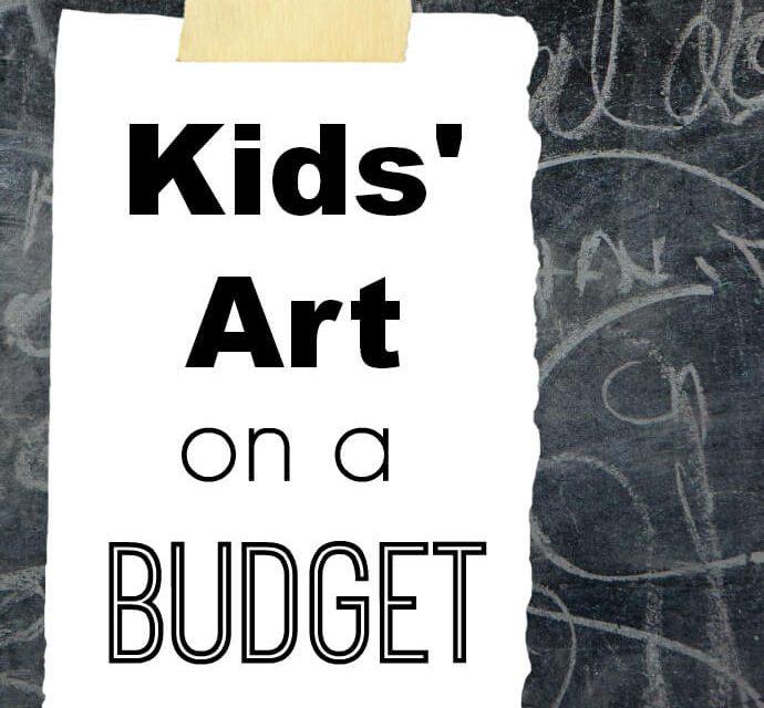 Fournitures d'art pour enfants avec un budget limité