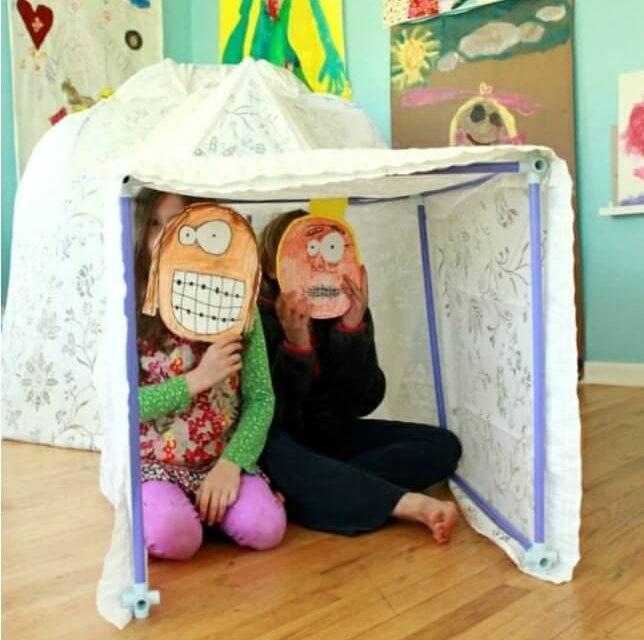 Construire un igloo avec le Fort Magic Fort Kit pour les enfants