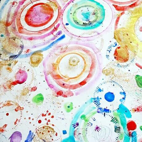 Circle Art For Kids – Une activité d'art de processus amusante