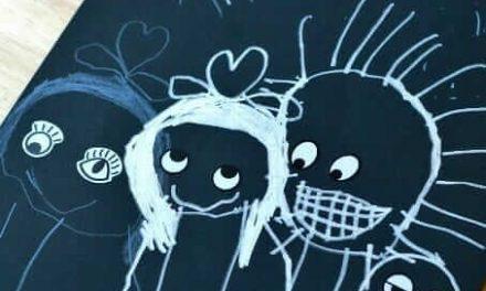 Suggestions de dessin pour les enfants avec des autocollants pour les yeux