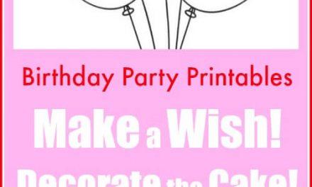 Imprimables de fête d'anniversaire pour les enfants à décorer