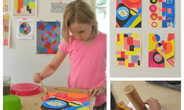 Étude d'artiste avec des enfants – Sonia Delaunay