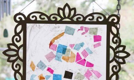Un capteur de soleil en papier tissu sur papier ciré