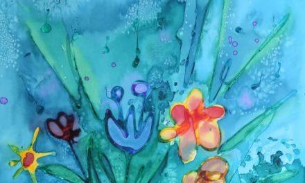 Copie de sauvegarde de Glue Art sur toile à l'aquarelle