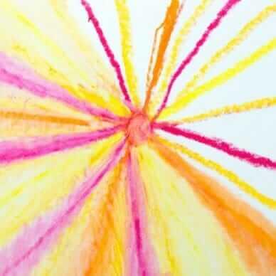 Peinture à l'huile pastel avec les enfants