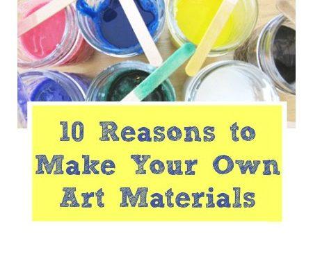 10 raisons de faire vos propres fournitures artistiques
