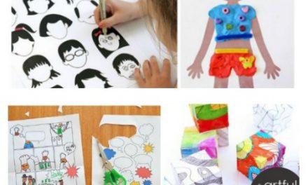 16 Activités artistiques imprimables pour les enfants