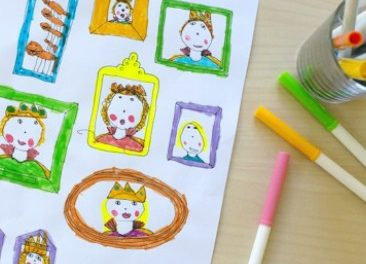 Inspirez la créativité de vos enfants à l'aide d'une invite à dessiner et d'un cadre imprimable.