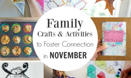13 novembre Artisanat et activités pour les liens familiaux et la célébration