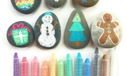 Pierres-cadeaux de Noël – Une douce et simple idée de cadeau fait main