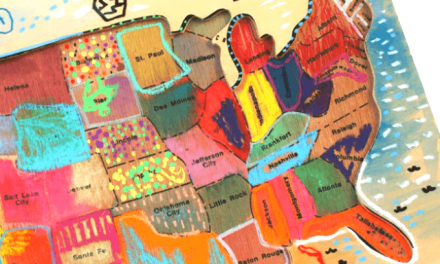 Kids Map Art – Peindre une carte en bois