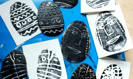 La gravure en polystyrène avec Kids for Easter