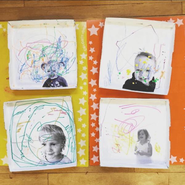 L'art de l'autoportrait avec les petits enfants