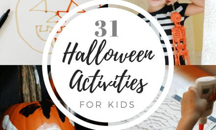 31 jours d'activités d'Halloween pour les enfants (avec liste imprimable !)