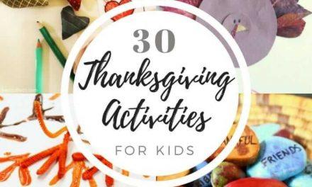 Plus de 30 activités de l'Action de grâces pour les enfants