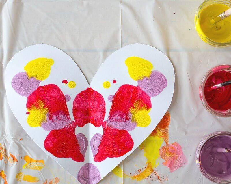 Symétrie du cœur Peinture