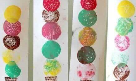 L'art de la crème glacée – Un projet de gravure facile pour les enfants