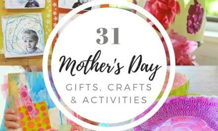 31 projets de la fête des mères pour les enfants (cadeaux, artisanat et activités)