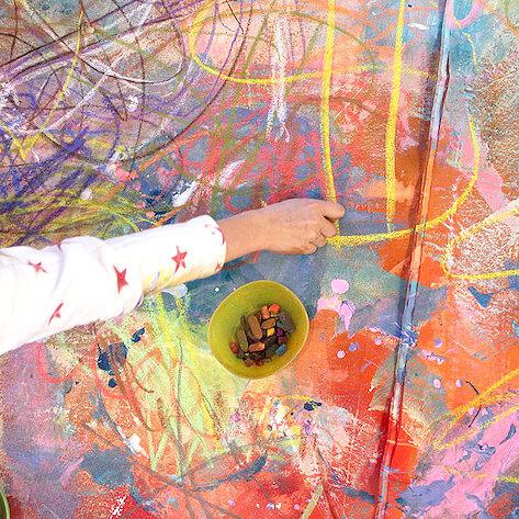 L'art mural pour les enfants – Essayez ce projet de peinture en collaboration étonnante