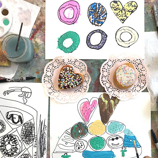 Utilisez des beignes pour enseigner aux enfants à dessiner à partir de l'observation