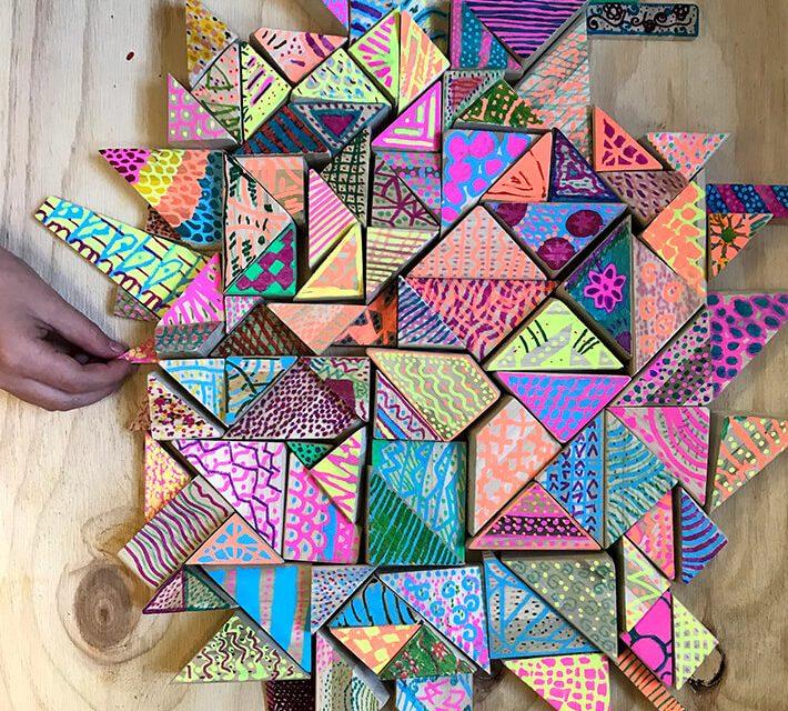 Comment faire des blocs de bois peints et des sculptures en bois